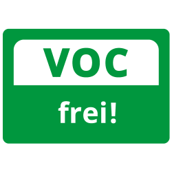 Free from / reduced volatile organic compounds according to EU regulation